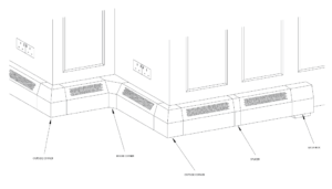 Heating Edge Baseboard Accessories Layout